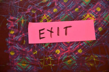 word exit photo