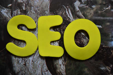 keywords link: word seo Stock Photo