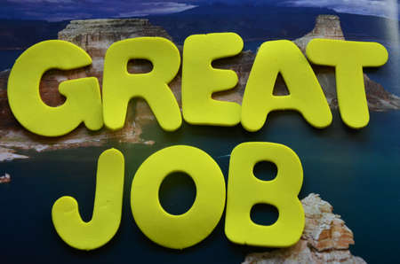 word grea job photo