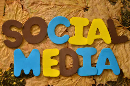 word social media Stock Photo - 21172932