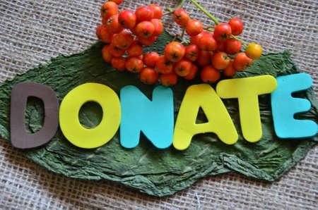 word donate Stock Photo - 21321962