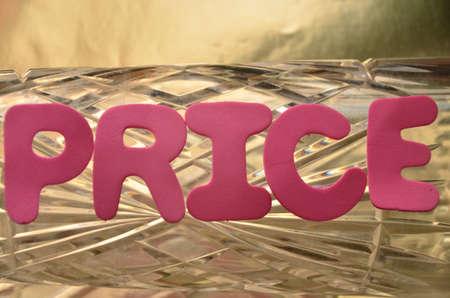 discounting: word prrice Stock Photo