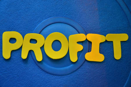 passive earnings: word profit Stock Photo
