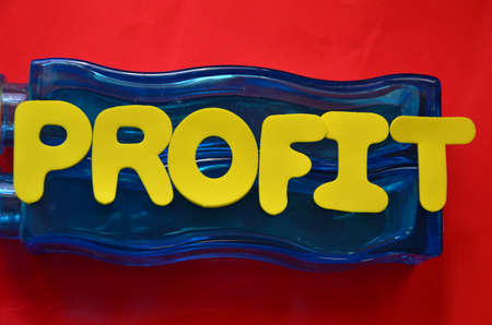 passive earnings: word profit Stock Photo