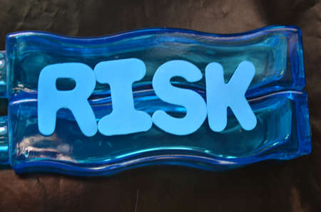 risiko: word risk Stock Photo