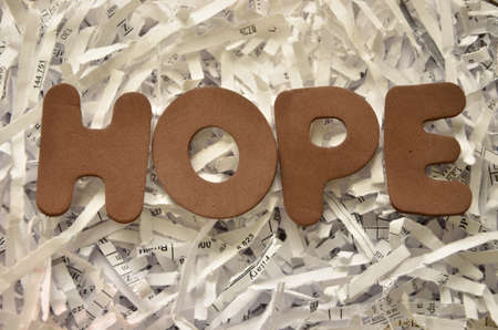 hoping: word: hope Stock Photo