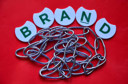 branded product: word brand Stock Photo