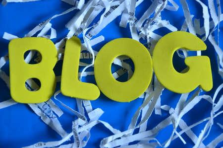 word blog Stock Photo - 22254157