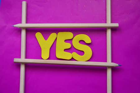 ratify: word yes Stock Photo
