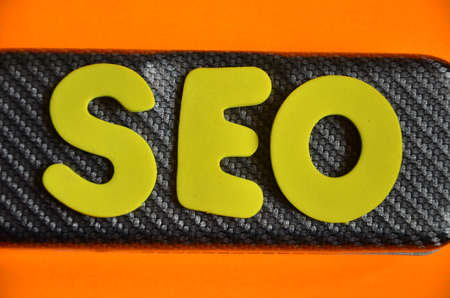 word seo on aorange Stock Photo - 22841299