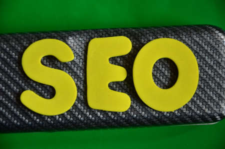 word seo on a green Stock Photo - 22841302