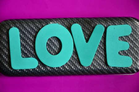 word love on a purpure photo