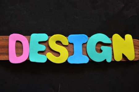 word design on a black Stock Photo - 22477531