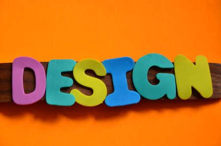word design on a orange Stock Photo - 22477537