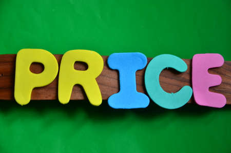 discounting: word price on a green