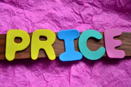 word price on a purpure photo
