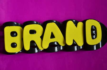 word brand on a purpure photo