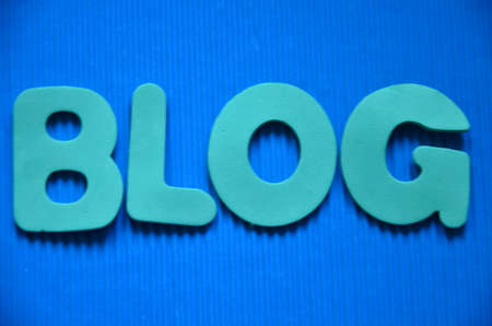 WORD BLOG ON A BLUE photo