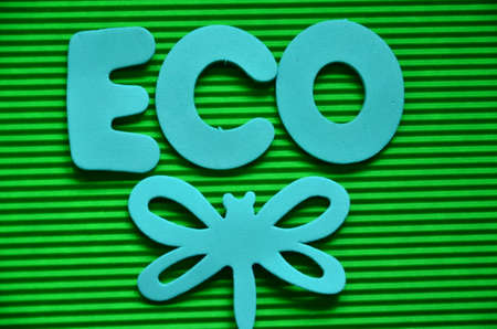 WORD ECO ON A GREEN photo