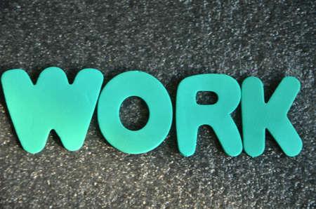 synergies: word work Stock Photo