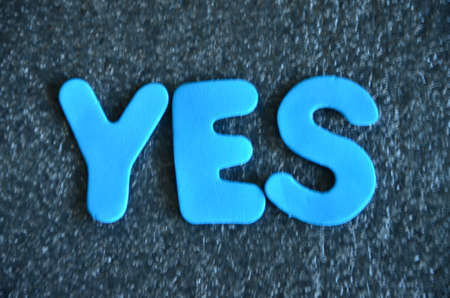synergies: word yes Stock Photo