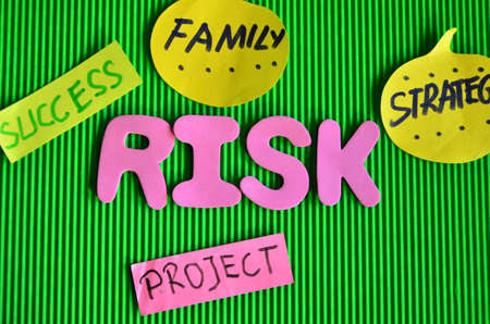 word risk on a green photo