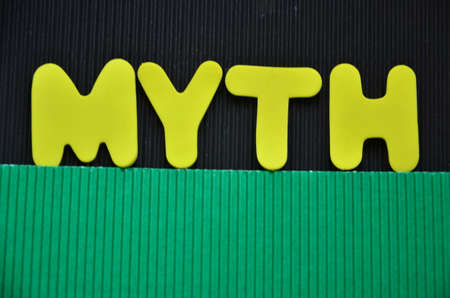 stock photos: word myth Stock Photo