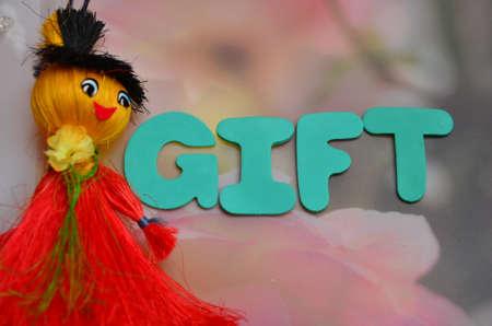wariety: word gift Stock Photo