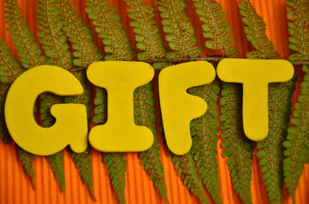 word gift photo