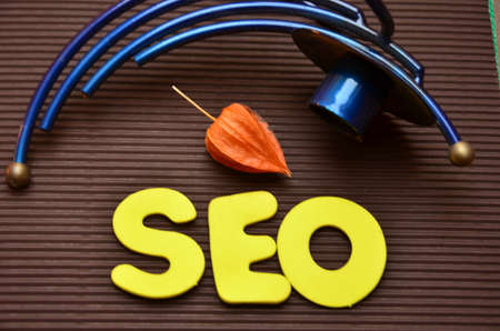 increase visibility: word seo Stock Photo