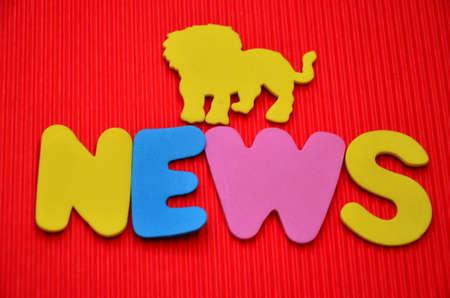 unveil: WORD NEWS Stock Photo