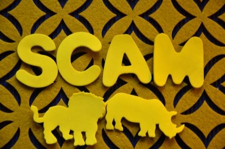 word scam Stock Photo - 25368207