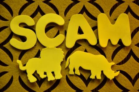 word scam Stock Photo - 25368209