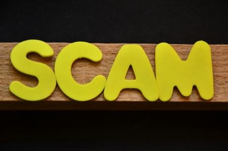 word scam Stock Photo - 25488460