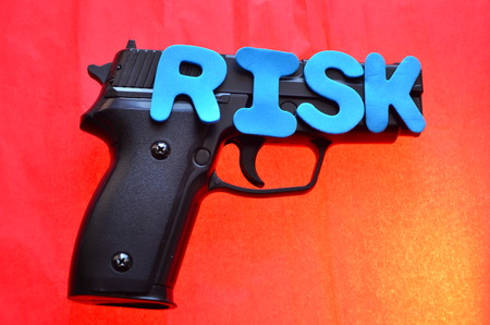 self harm: word risk and pistol