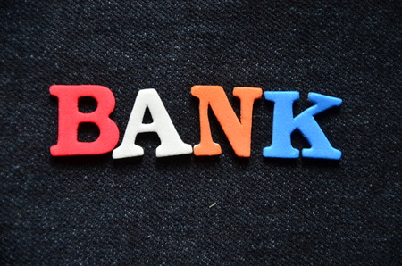 annuity: word bank Stock Photo