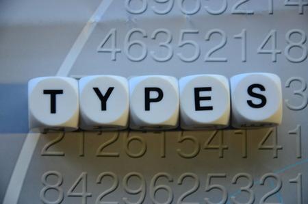 molares: tipos de palabra Foto de archivo