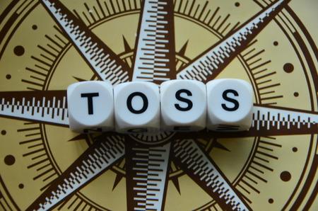 toss: word toss Stock Photo