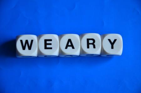 weary: word weary