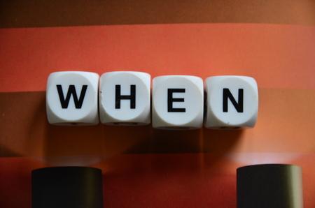 when: WORD WHEN