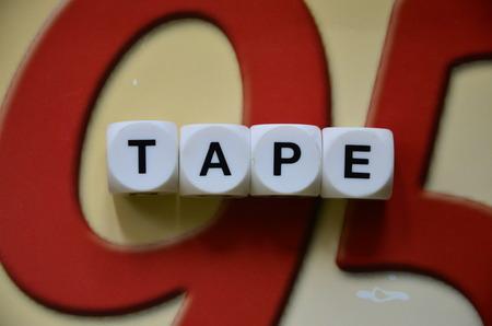 word tape photo