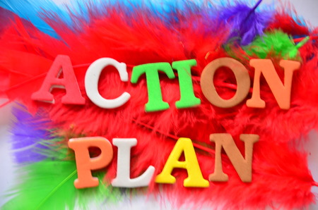 plan d action: Plan mot d'action Banque d'images