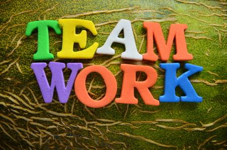 word team work Stock Photo