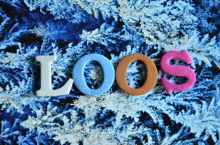 loosen up: word loos Stock Photo