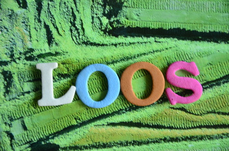 posits: word loos Stock Photo