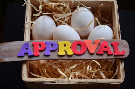 good judgment: approval word Stock Photo
