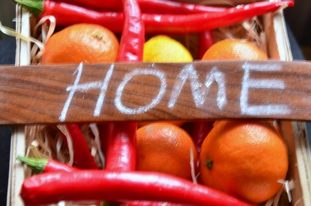 the elderly caregivers: home word Stock Photo