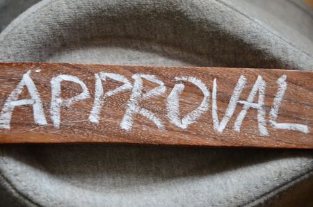 endorsement: approval word Stock Photo