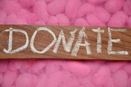 write off: donate word Stock Photo