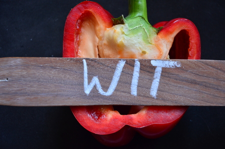 exponents: WIT WORD Stock Photo